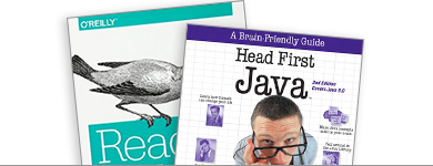 React and Java Book Covers